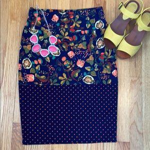 NWT Flower and Polka Dot Cassie Skirt